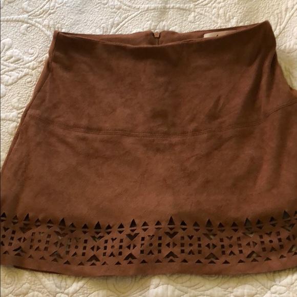 """Jolt Dresses & Skirts - Jolt """"suede"""" tan skirt"""